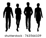 vector silhouettes of men and... | Shutterstock .eps vector #763566109