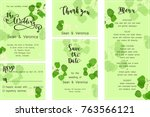 save the date card  wedding...   Shutterstock .eps vector #763566121
