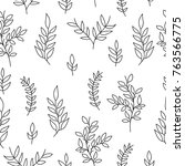 seamless pattern of hand drawn...   Shutterstock .eps vector #763566775