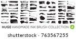 dirty diy handmade artistic... | Shutterstock .eps vector #763567255