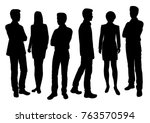 vector silhouettes of men and... | Shutterstock .eps vector #763570594