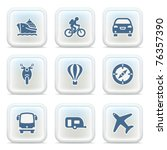 internet icons on buttons 33 | Shutterstock .eps vector #76357390