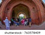 delhi  india   september 25... | Shutterstock . vector #763578409