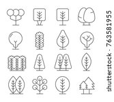 tree icons set | Shutterstock .eps vector #763581955