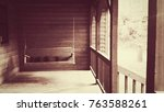 country front porch swing. | Shutterstock . vector #763588261