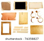 collection of various grunge...   Shutterstock . vector #76358827