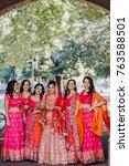 stunning indian bride dressed... | Shutterstock . vector #763588501