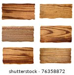 collection of wooden signs on... | Shutterstock . vector #76358872