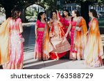 stunning indian bride dressed... | Shutterstock . vector #763588729