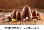 easter egg chocolate | Shutterstock . vector #763589371