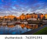 inner harbor of victoria ... | Shutterstock . vector #763591591