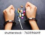 drug dealer arrested for... | Shutterstock . vector #763596649