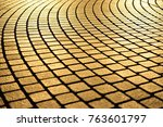 Gold Texture Of Stone Pavement...