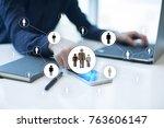 human resource management  hr ... | Shutterstock . vector #763606147