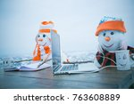 christmas time and education ...   Shutterstock . vector #763608889