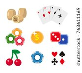 casino symbols   playing cards  ...   Shutterstock .eps vector #763611169
