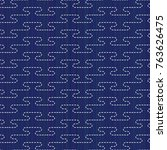 sashiko motif. classic japanese ... | Shutterstock .eps vector #763626475