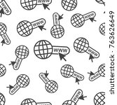 go to web seamless pattern... | Shutterstock .eps vector #763626649
