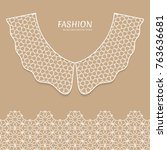 vector fashion background.... | Shutterstock .eps vector #763636681