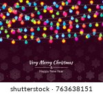 christmas  background with... | Shutterstock .eps vector #763638151