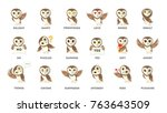 Owl Emotions Stickers. Fun And...