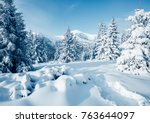 scenic image of fairy tale... | Shutterstock . vector #763644097