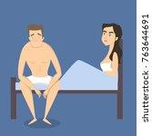 intimate problem illustration....   Shutterstock .eps vector #763644691