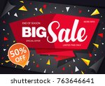 sale banner template design... | Shutterstock .eps vector #763646641
