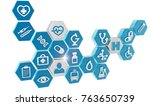 set of medical icons isolated... | Shutterstock . vector #763650739