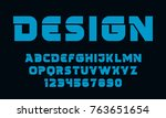 geometric technology font... | Shutterstock .eps vector #763651654