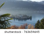 autumn colors in orta san...   Shutterstock . vector #763654645