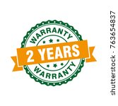 two years warranty sign label...   Shutterstock .eps vector #763654837
