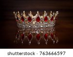 Royal Crown With Red Stones....