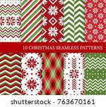 ten christmas different... | Shutterstock .eps vector #763670161
