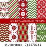 ten christmas different... | Shutterstock .eps vector #763670161