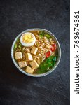 Japanese Ramen Soup With Tofu...