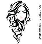 illustration of women long hair ...   Shutterstock .eps vector #763678729