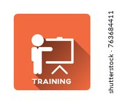 training icon vector | Shutterstock .eps vector #763684411