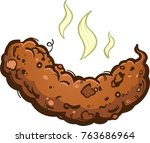 poop turd cartoon illustration | Shutterstock .eps vector #763686964