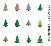 christmas tree vector... | Shutterstock .eps vector #763697317