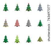 christmas tree vector... | Shutterstock .eps vector #763697377