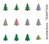 christmas tree vector... | Shutterstock .eps vector #763697434