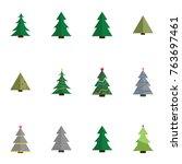 christmas tree vector... | Shutterstock .eps vector #763697461