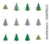 christmas tree vector... | Shutterstock .eps vector #763698211
