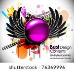 music theme star background... | Shutterstock .eps vector #76369996