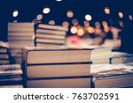 education and study as concept  ...   Shutterstock . vector #763702591
