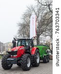 Small photo of Lutsk, Volyn / Ukraine - November 18 2017: Agricultural machinery in agricultural fair