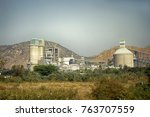 industry in india. evidence of...   Shutterstock . vector #763707559