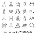 simple collection of... | Shutterstock .eps vector #763708684