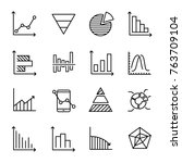 set of premium diagram icons in ...
